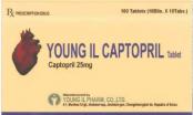 Đình chỉ, thu hồi thuốc viên nén Young II Captopril Tablet không đảm bảo chất lượng