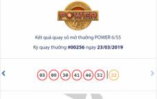 XS Vietlott hôm nay - Kết quả xổ số VIETLOTT POWER 6/55 ngày 26/3/2019