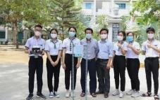 Sáng chế máy sát khuẩn có giọng nói của học sinh Ninh Thuận